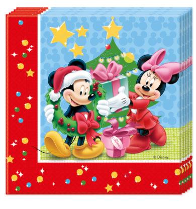 Servítky Mickey Vianoce 33x33cm 20ks