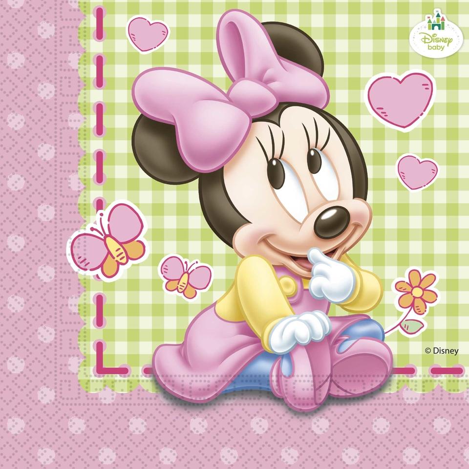 Servítky Minnie Baby 33x33cm 20ks