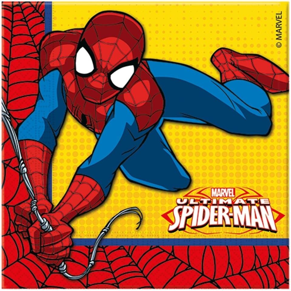 Servítky Spiderman 33x33cm 20ks