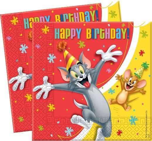 Servítky Tom & Jerry 33x33cm 20ks