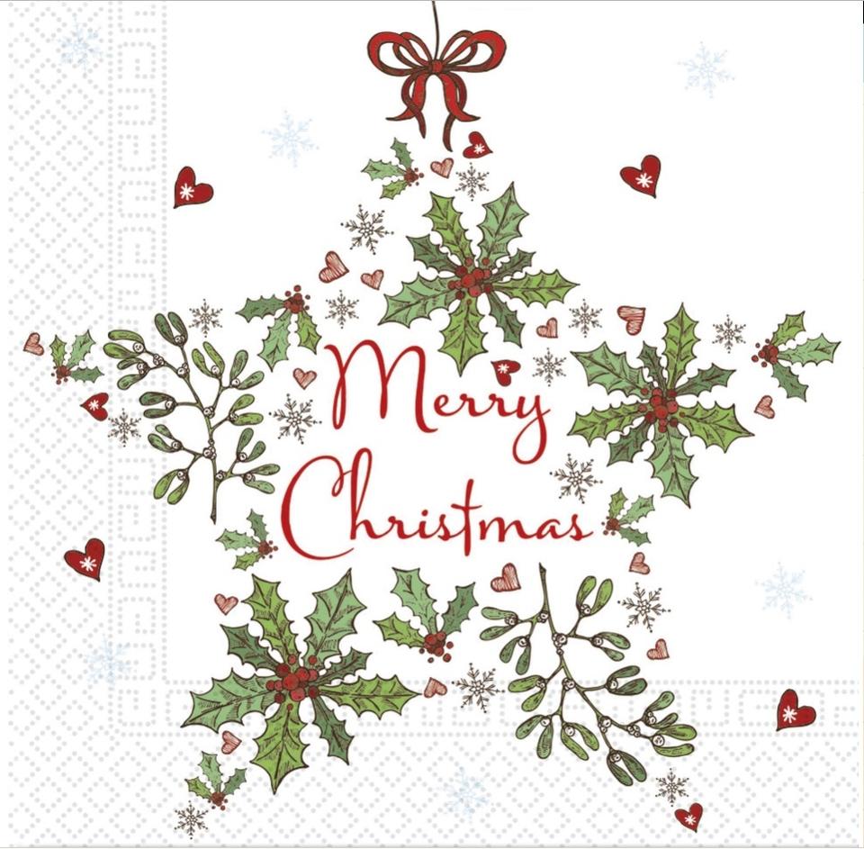 Servítky Vianoce 33x33cm 20ks