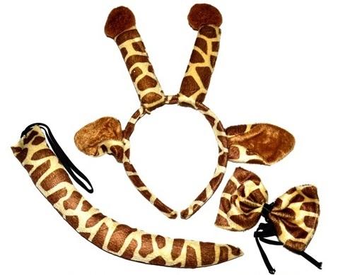 Karnevalový set žirafa