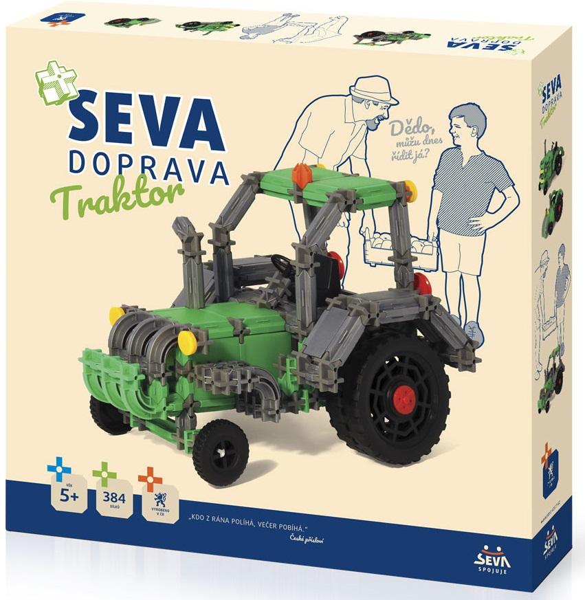 Stavebnica Seva Doprava - traktor 384dielikov