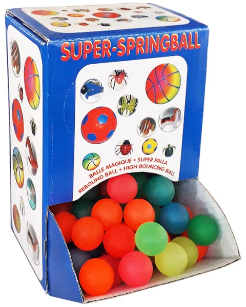 Skákacie farebné loptičky 30mm
