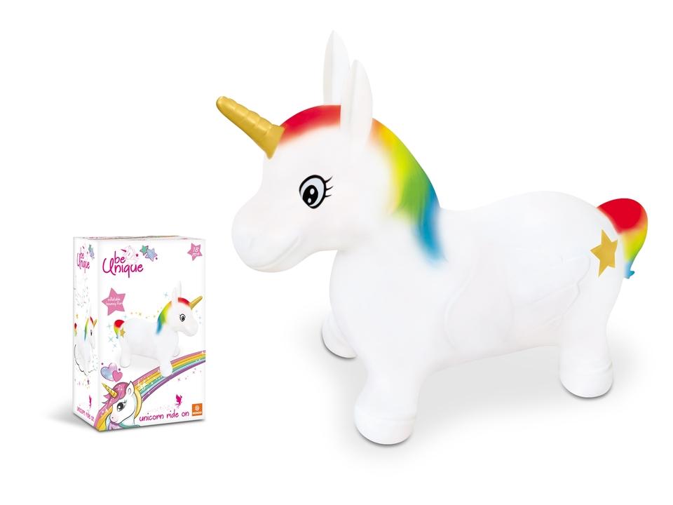 Mondo 09132 Jednorožec na skákanie Unicorn Ride on gumený biely