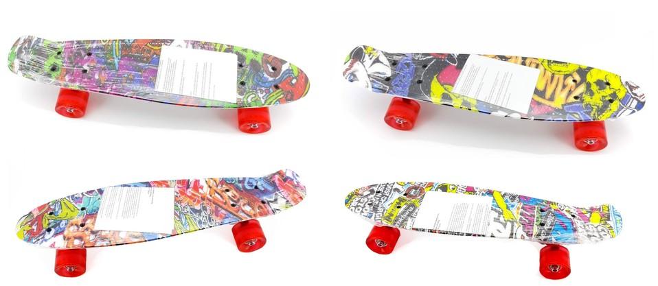 Skateboard farebný 54cm