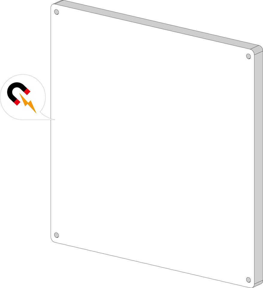 Viga Magnetická mazacia tabuľa na stenu