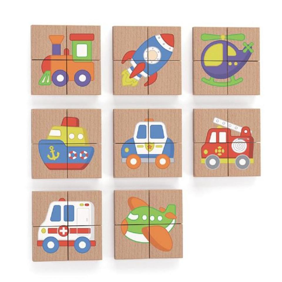 Viga Magnetické puzzle bloky 32ks