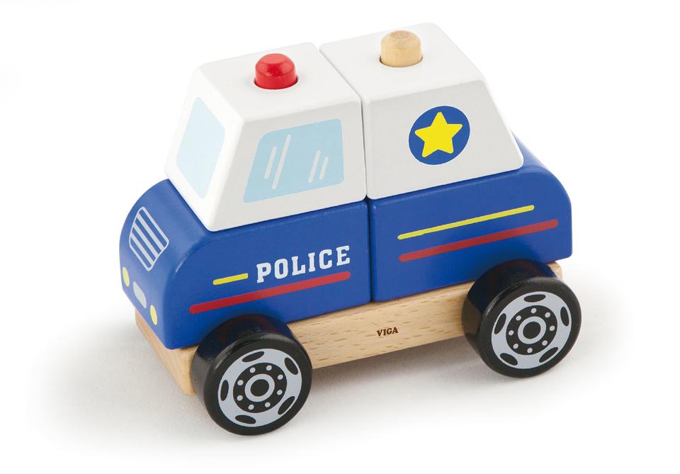 Viga Drevená skladačka Polícia