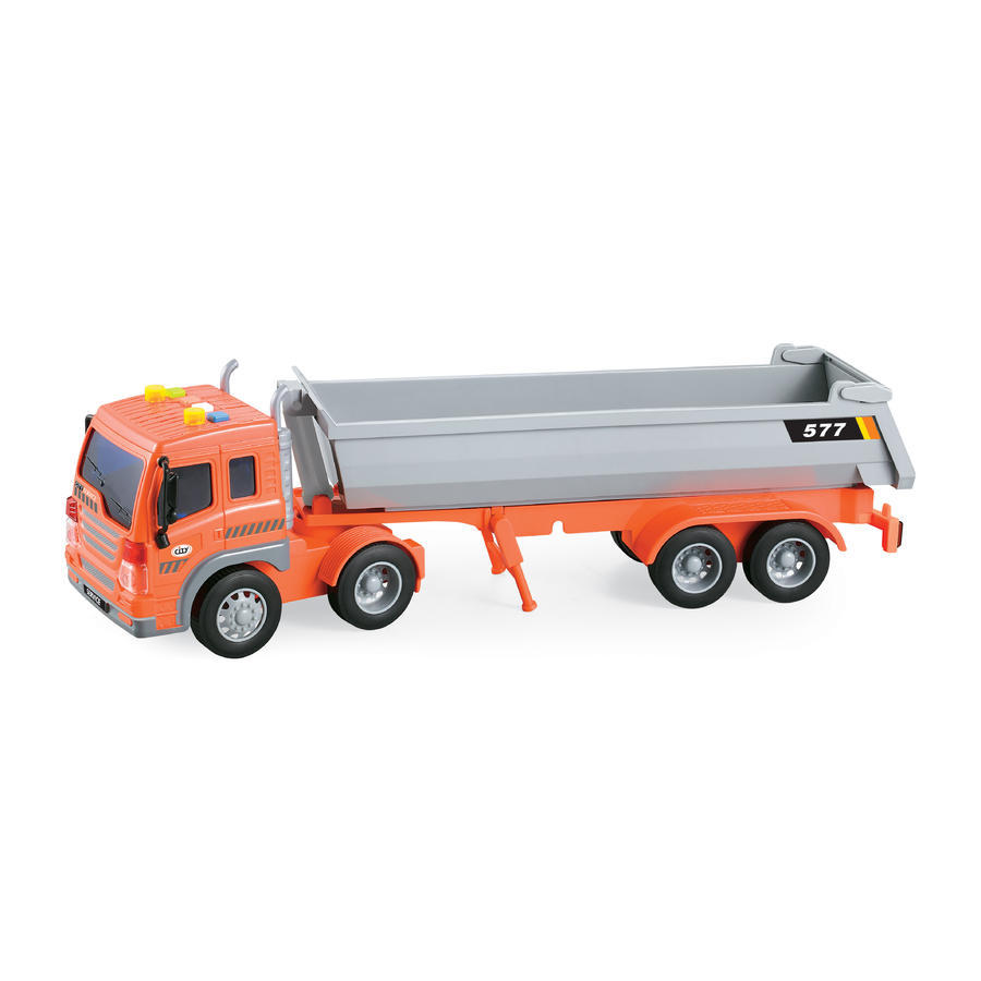 Sklápacie auto s efektmi 40cm - oranžová