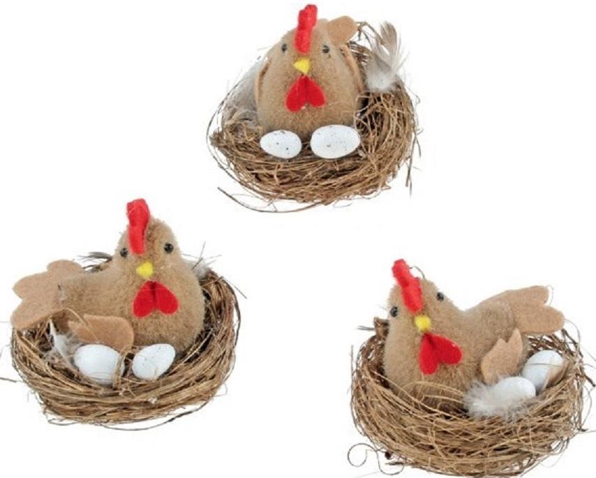 Veľkonočná sliepka v hniezde 7cm
