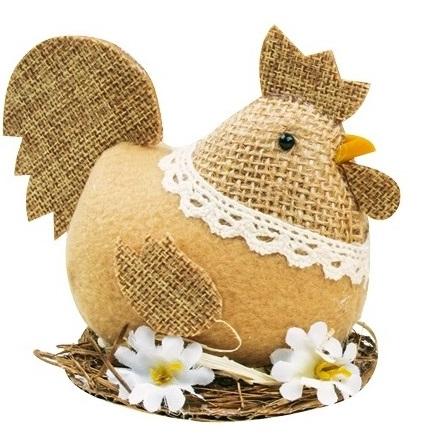 Veľkonočná sliepka v hniezde 8cm
