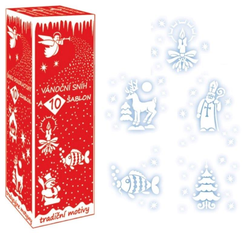 Sneh v spreji +10 vianočných šablón