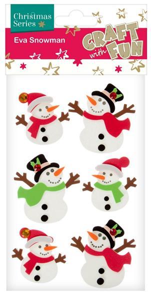 Vianočná dekorácia snehuliaci 6ks