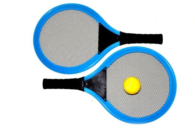 Plažový soft tenis 1 loptička - modrá