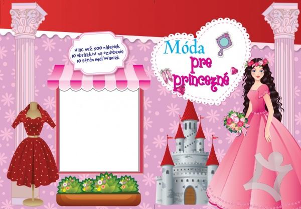 Móda pre princezné Omaľovánka s nálepkami