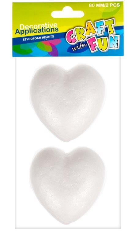 Srdce polystyrénové 8cm
