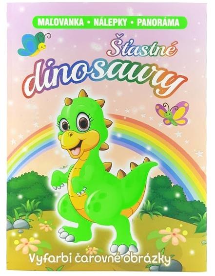Šťastné dinosaury omaľovánka s nálepkami