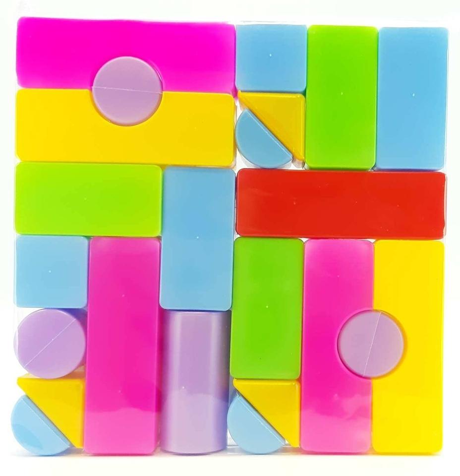 Stavebnica - kocky plastové 23ks