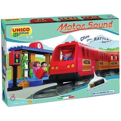 Stavebnica Unisco vlak 68 dielikov