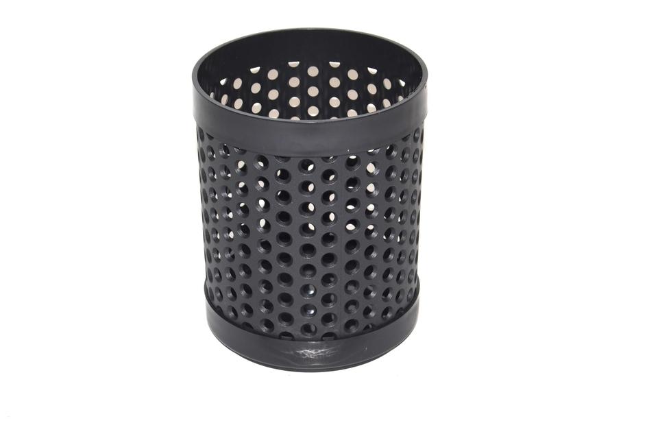 Stojan plastový čierny guľatý