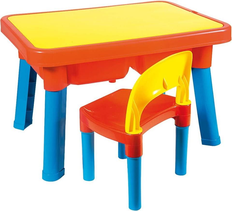 Multifunkčný plastový stolík a stolička