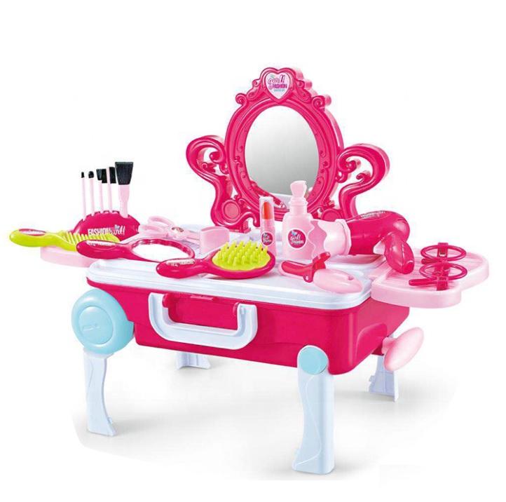 Detský toaletný stolík v kufríku 2v1
