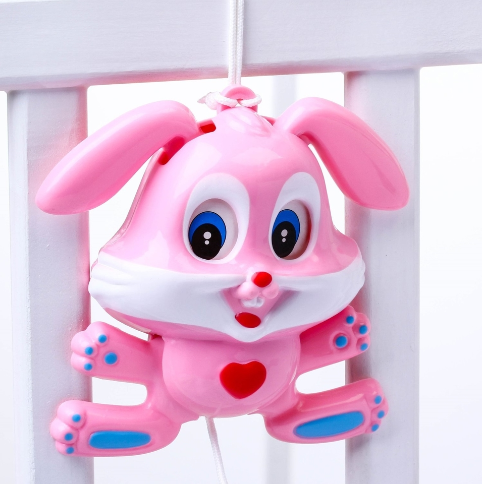 Hrací uspávačik Zajac - ružová