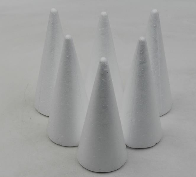 Kúžeľ polystyrén 150mm/6ks
