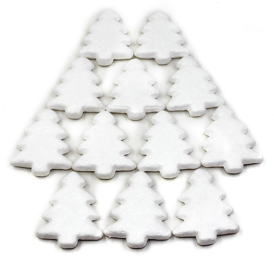 Stromček vianočný polystyrénový 75mm/12ks