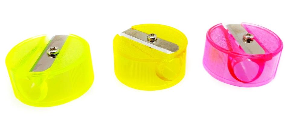Strúhatko plastové mix farieb - žltá