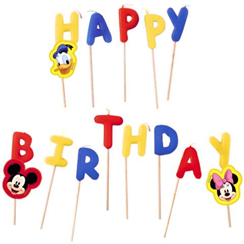 Sviečky Happy Birthday Mickey zapichovacie