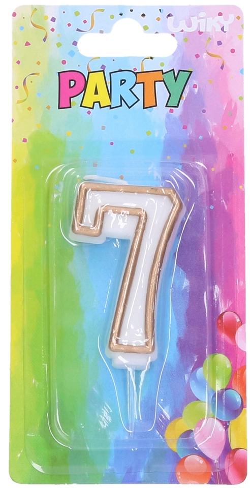 Tortové sviečky zlaté číslo.7