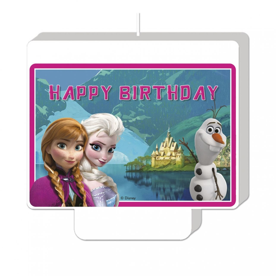 Sviečka Happy Birthday Frozen