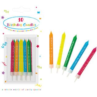 Sviečky Happy Birthday 10ks