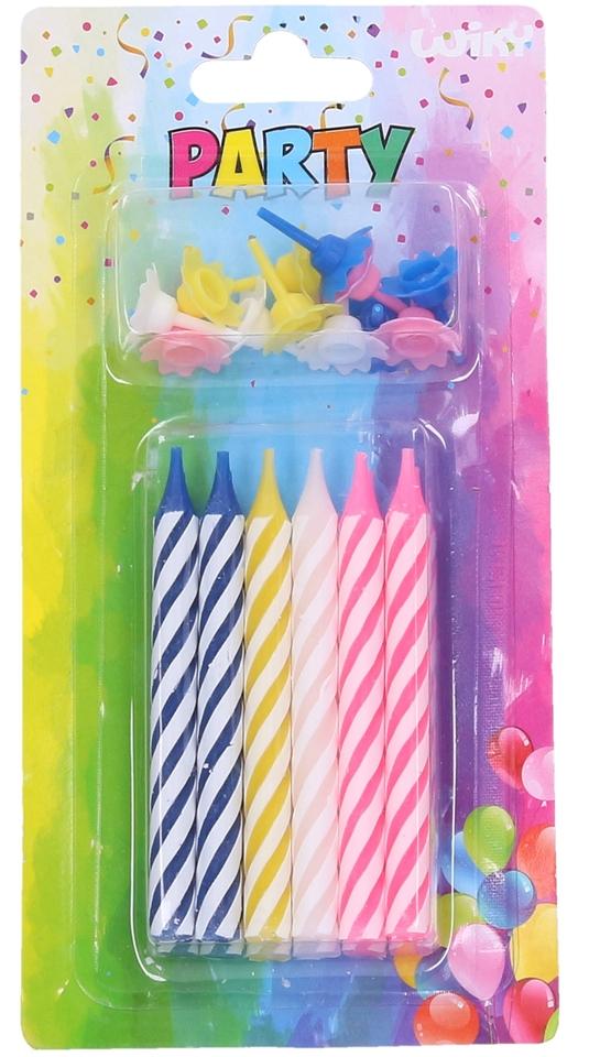 Sviečky farebné Jumbo 12ks