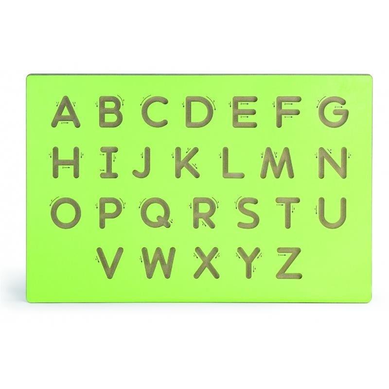 Viga Drevená tabuľa na výučbu písania-veľké písmená