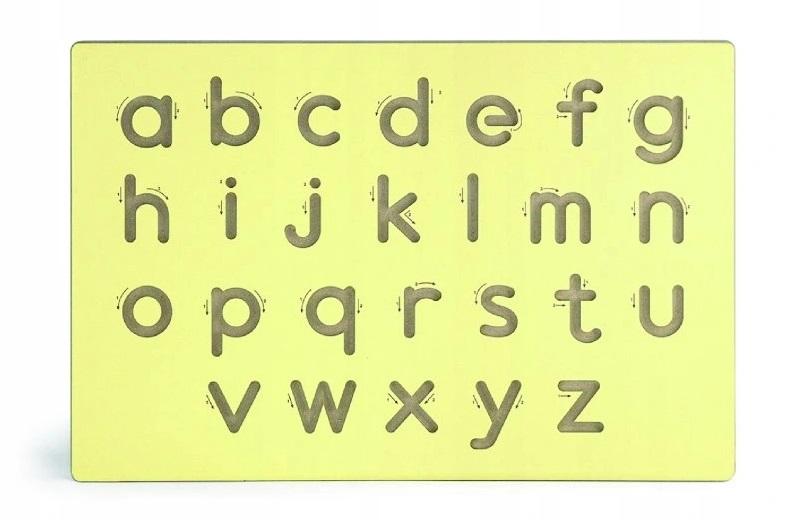 Viga Drevená tabuľa na výučbu písania-malé písmená