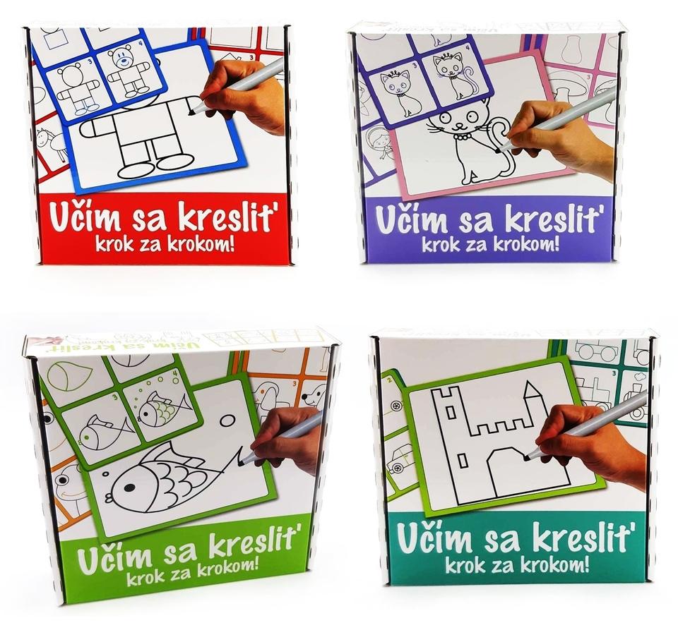 Detská tabuľa, učím sa kresliť 1+12ks - tmavo zelená
