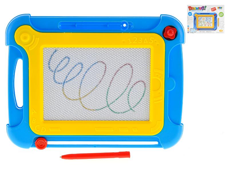 Magnetická tabuľka Drawing fun 25x19cm - žltá