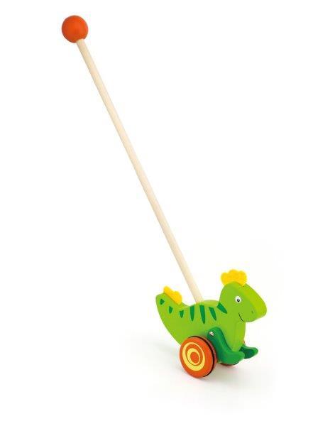 Viga Drevená ťahačka na tyči Dinosaurus