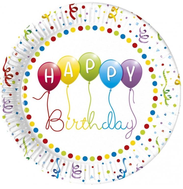 Taniere Happy Birthday 23cm 8ks