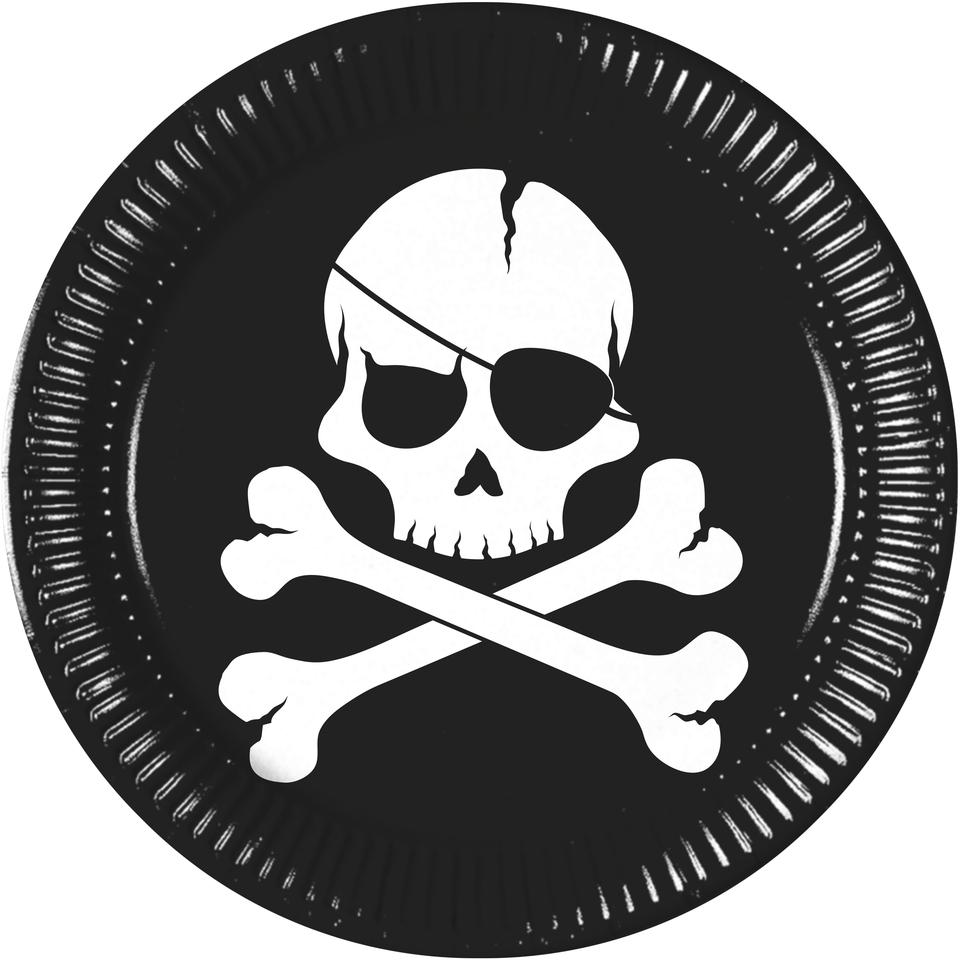 Tanier párty pirátska lebka