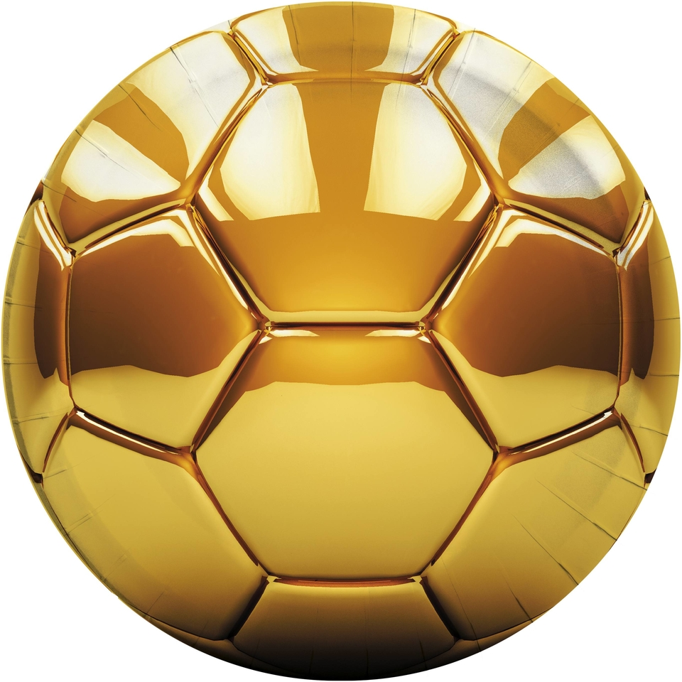 Taniere Football zlatý 23cm 8ks