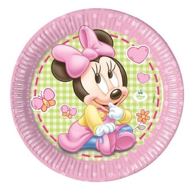 Taniere Minnie baby ružové 23cm 8ks