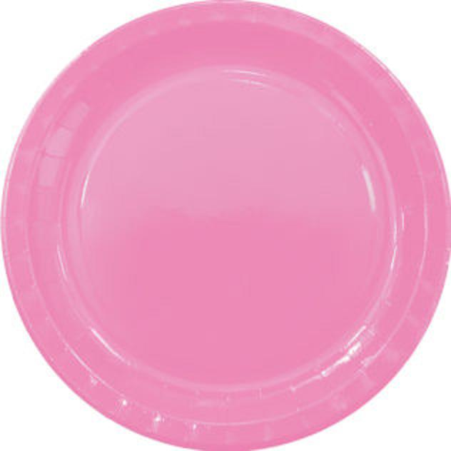 Taniere párty ružový 23cm 8ks
