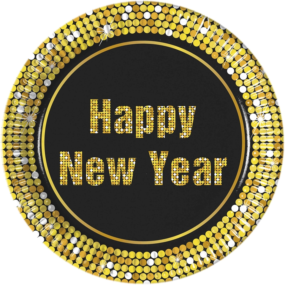 Taniere Happy New Year Retro 23cm 8ks