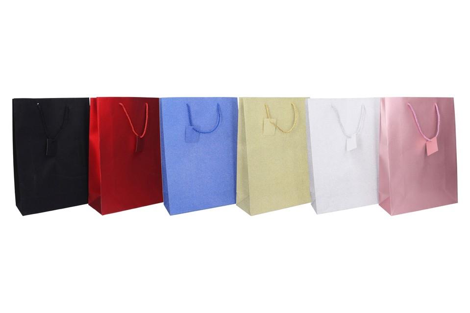 Darčeková taška 42x30x12cm - čierna
