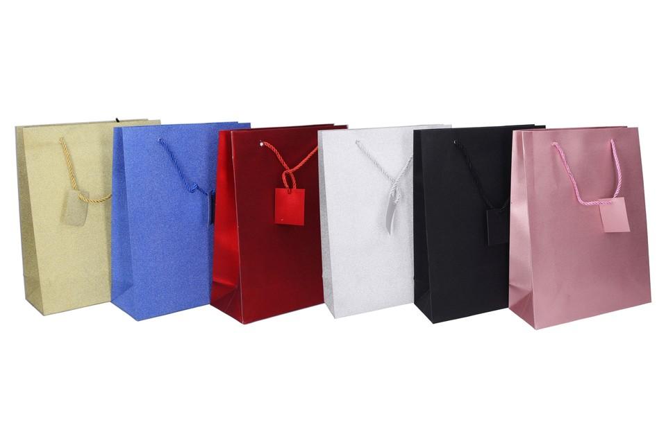 Darčeková taška 32x26x10cm - čierna
