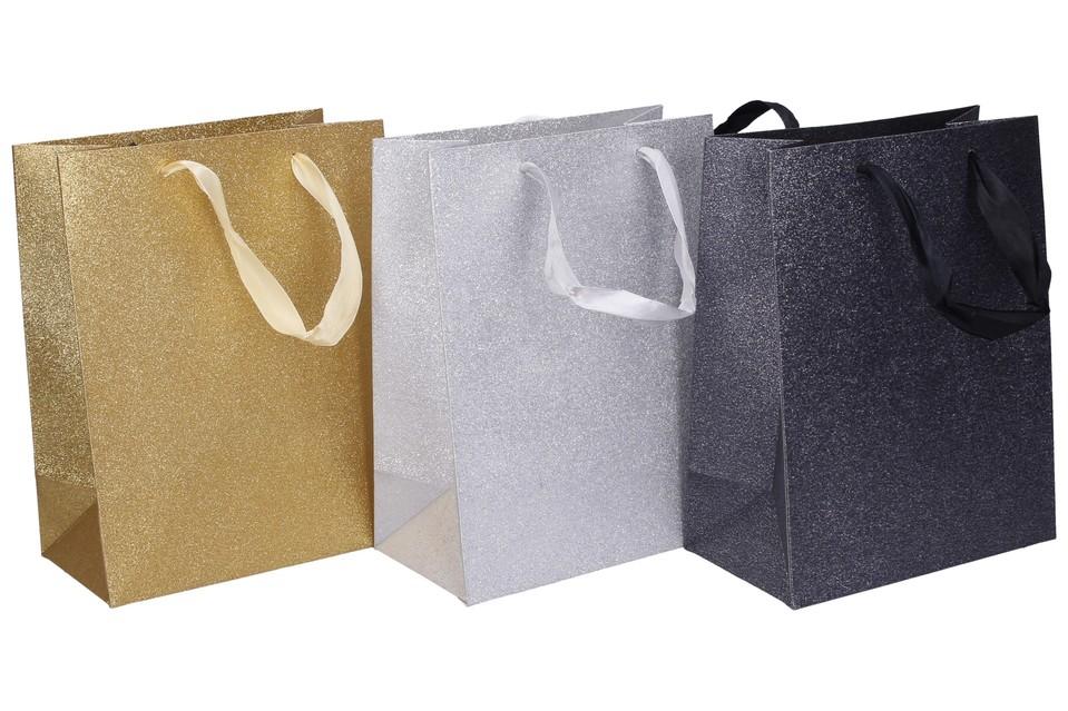 Darčeková taška 23x18x10cm - čierna